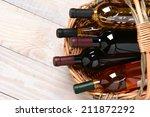A High Angle Shot Of Wine...