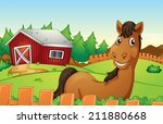 Illustration Of A Horse In A...
