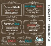 set of special sale offer... | Shutterstock .eps vector #211890646