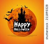 happy halloween message design...   Shutterstock .eps vector #211893328