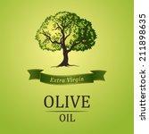 tree. olive oil. vector  olive... | Shutterstock .eps vector #211898635