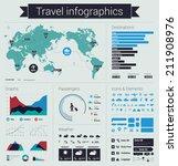 travel infographics in flat... | Shutterstock .eps vector #211908976