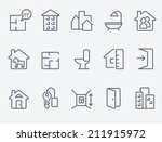 real estate icons | Shutterstock .eps vector #211915972