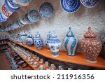 ceramic art at pottery shop.... | Shutterstock . vector #211916356
