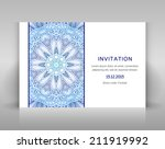 white card with floral... | Shutterstock .eps vector #211919992
