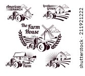set of retro farm fresh labels  ... | Shutterstock .eps vector #211921222