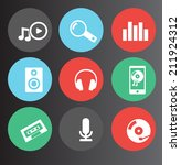 music and audio icons