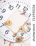 mechanical clock gears on the... | Shutterstock . vector #211935226