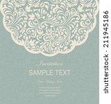 retro invitation or wedding... | Shutterstock .eps vector #211945186