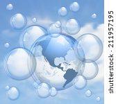 an illustration of the blue sky ...   Shutterstock .eps vector #211957195