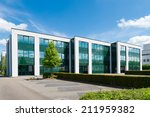 exterior of a modern office... | Shutterstock . vector #211959382
