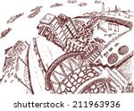 city  sketch | Shutterstock .eps vector #211963936