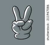 the victory sign hand gesture.... | Shutterstock .eps vector #211967086