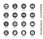 car service icons | Shutterstock .eps vector #211969006