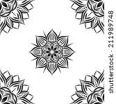 sun flower geometric pattern | Shutterstock .eps vector #211989748