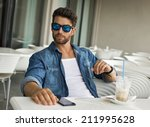 Young Handsome Man In Sunglasses