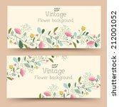 retro flower vertical banners... | Shutterstock .eps vector #212001052