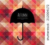 vector umbrella black symbol... | Shutterstock .eps vector #212004172