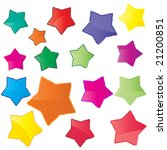 glossy colorful stars | Shutterstock .eps vector #21200851