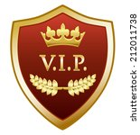 vip gold shield | Shutterstock .eps vector #212011738