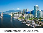 Stock photo beautiful view of vancouver british columbia canada 212016496