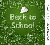 back to school text end school... | Shutterstock .eps vector #212024992