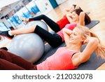 fitness  sport  training  gym... | Shutterstock . vector #212032078