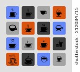 cup icons | Shutterstock .eps vector #212034715