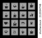 cup icons   Shutterstock .eps vector #212034748