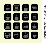 cup icons | Shutterstock .eps vector #212034832