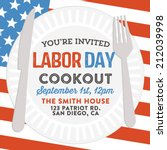 happy labor day cookout... | Shutterstock .eps vector #212039998