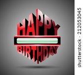 happy birthday  vector... | Shutterstock .eps vector #212053045