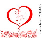 happy valentines day card   Shutterstock . vector #212058475