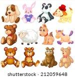 Illustration Of Many Stuffed...