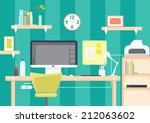 workspace illustration for... | Shutterstock .eps vector #212063602