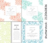 wedding invitation cards with... | Shutterstock . vector #212063836
