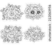 flower set | Shutterstock .eps vector #212063956