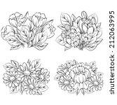 flower set | Shutterstock .eps vector #212063995