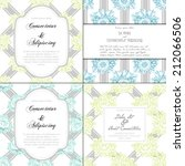 wedding invitation cards with... | Shutterstock . vector #212066506