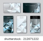 set of business or gift cards. | Shutterstock .eps vector #212071222