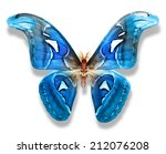 Stock photo blue butterfly isolated on white 212076208