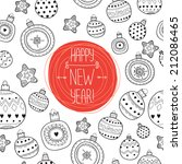 vector pattern happy new year | Shutterstock .eps vector #212086465
