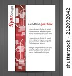 flyer or cover design with... | Shutterstock .eps vector #212092042