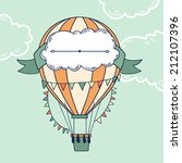 air balloon with party ribbon ... | Shutterstock .eps vector #212107396