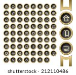 golden buttons. internet and... | Shutterstock .eps vector #212110486