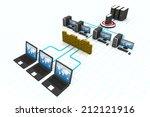 computer network   | Shutterstock . vector #212121916