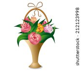 bouquet of roses | Shutterstock .eps vector #212123998