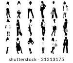 businesswomen | Shutterstock .eps vector #21213175