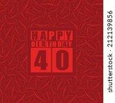 retro happy birthday card on... | Shutterstock .eps vector #212139856