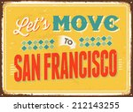 Vintage Metal Sign   Let's Mov...